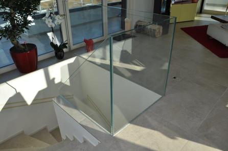 Glasgeländer Treppe