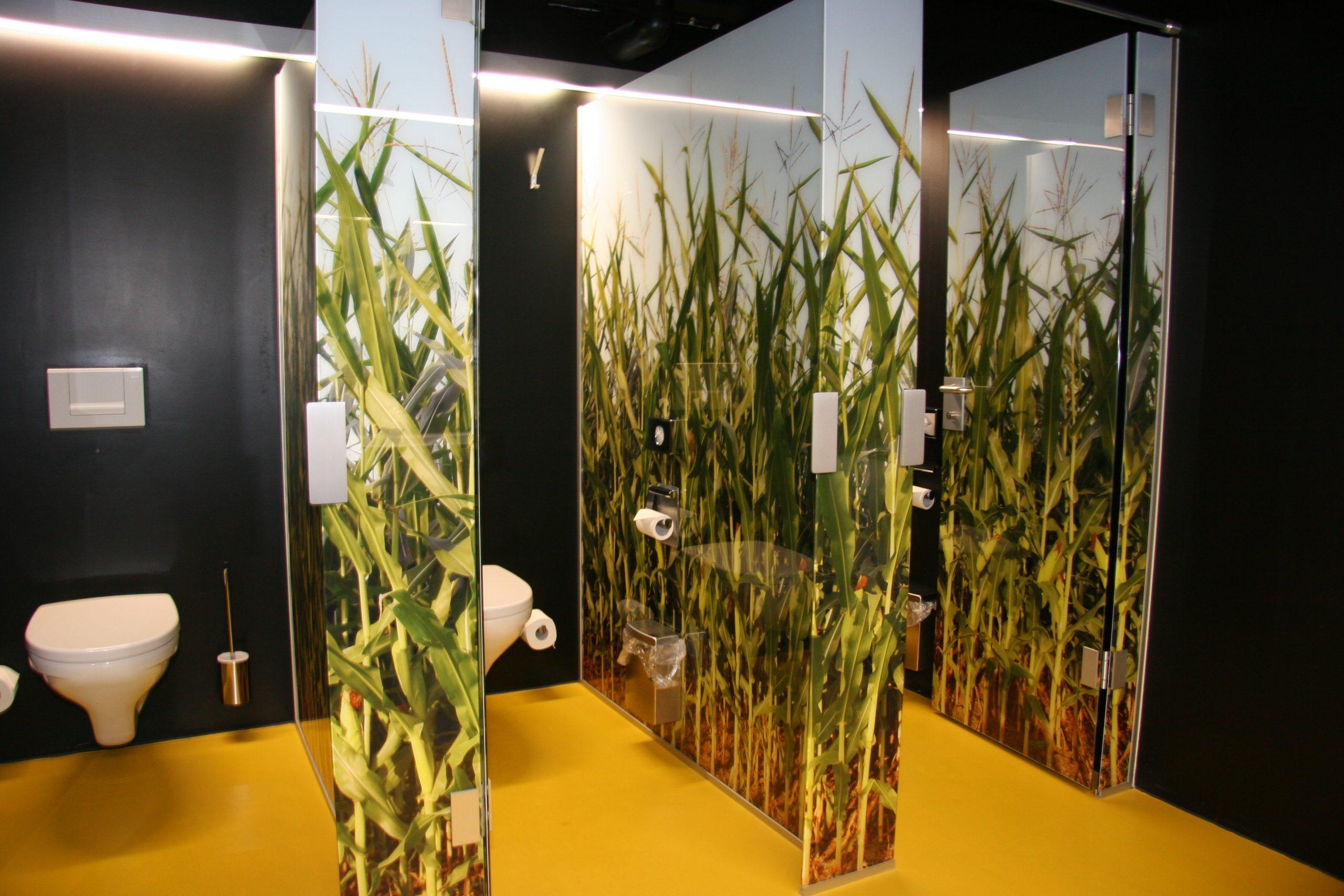 Toilettenanlage Maisfeldmotiv