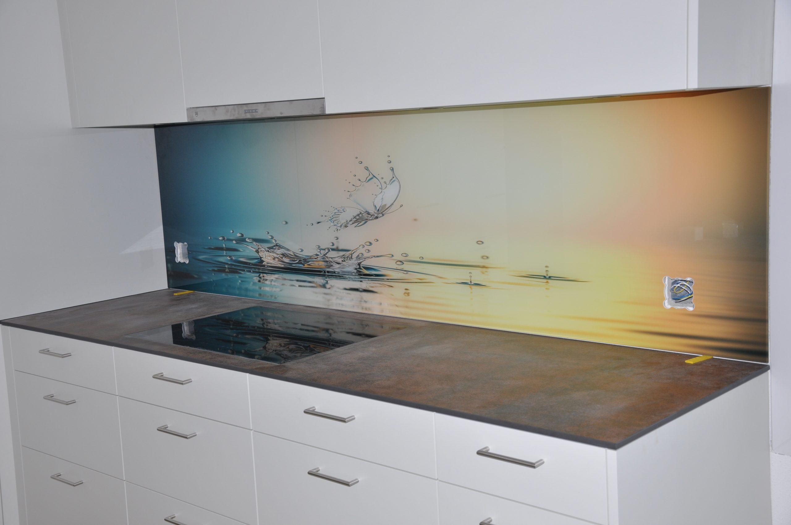 Küchenrückwand aus Glas mit Obstbild