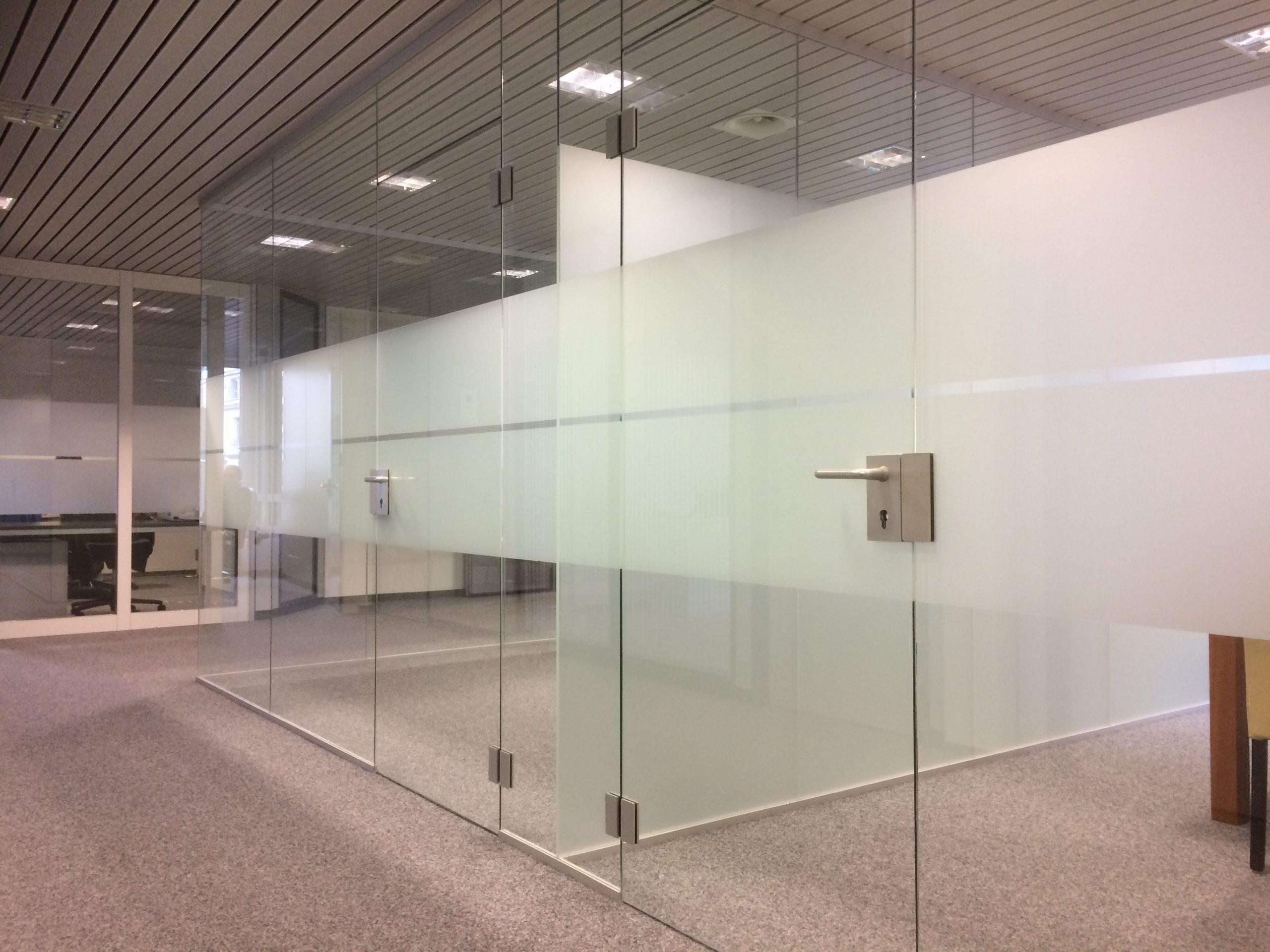 Ganzglasanlage Badezimmer