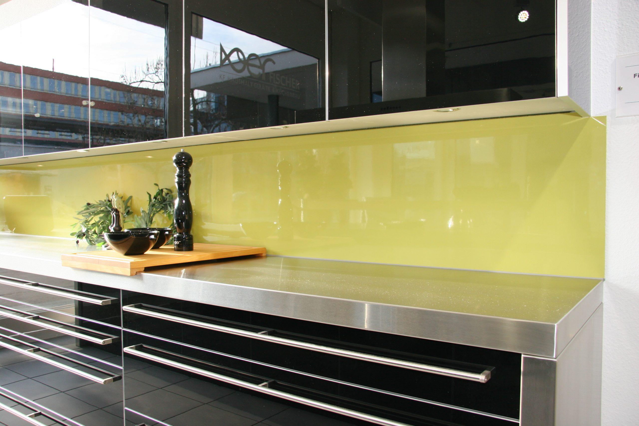 Glasrückwand Küche Blumen