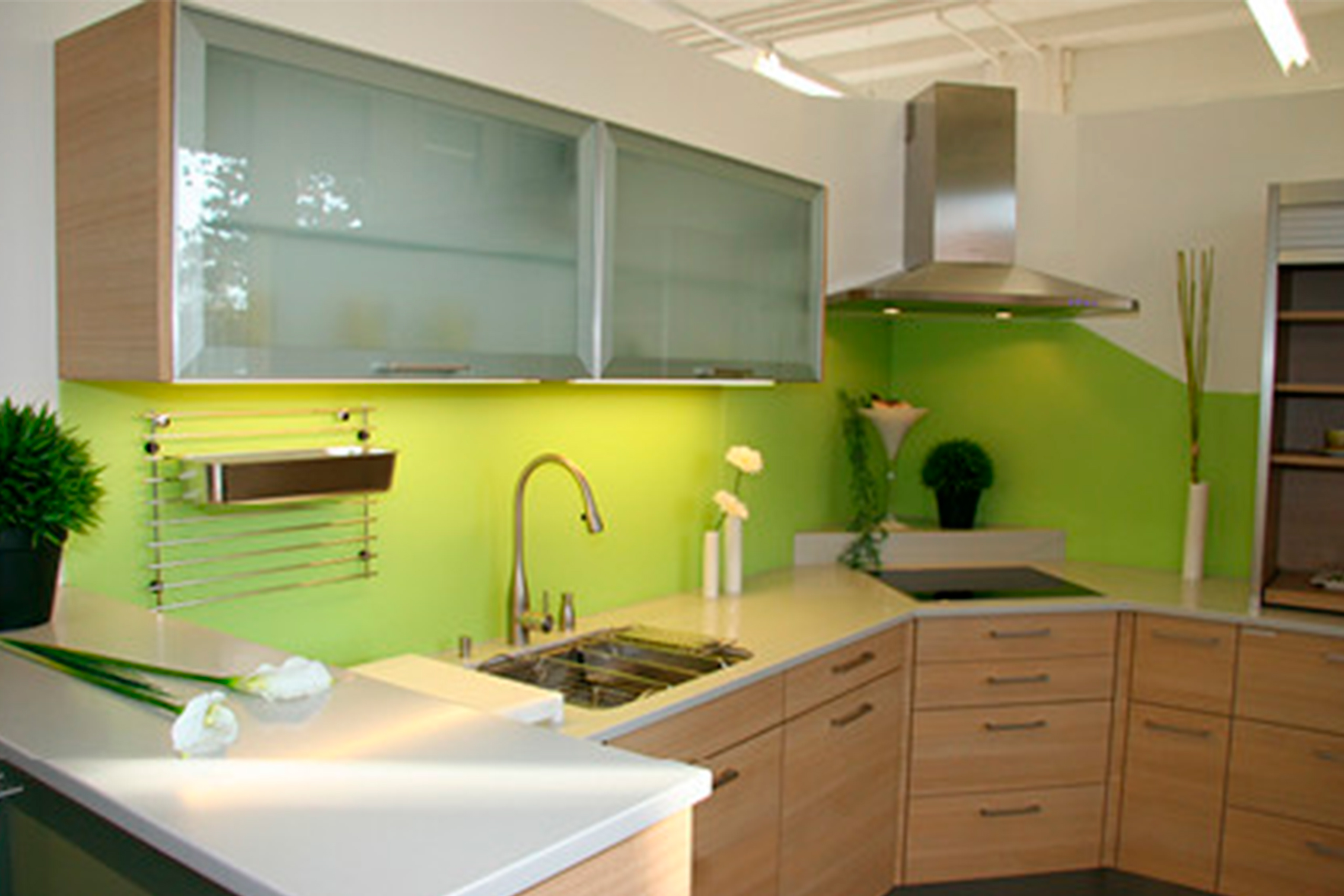 Küchenrückwand aus Glas grün